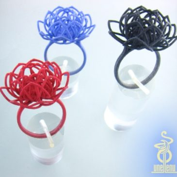 Image of Linear Lotus Rings designed by unellenu