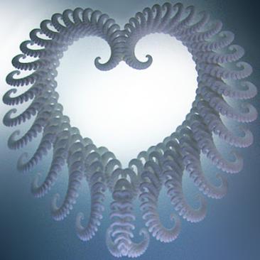 Image of Fractal Heart Ornament designed by unellenu