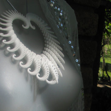 Image of 3D Fractal Heart Ornament/ Pendant designed by unellenu printed by Shapeways