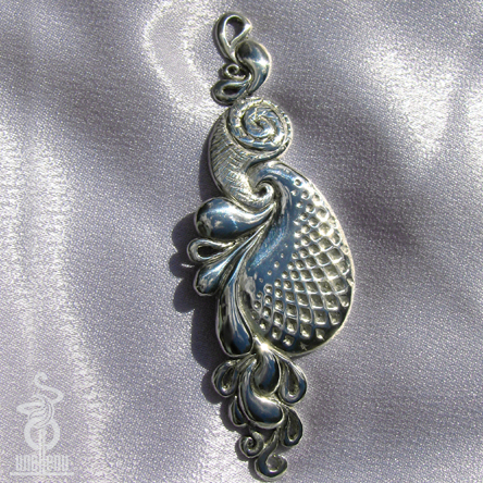 Image of 3D Paisley Pendant designed by unellenu
