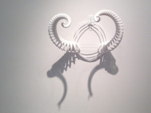 Image of 3D fractal horns designed by unellenu on display at The Third Dimension 2014