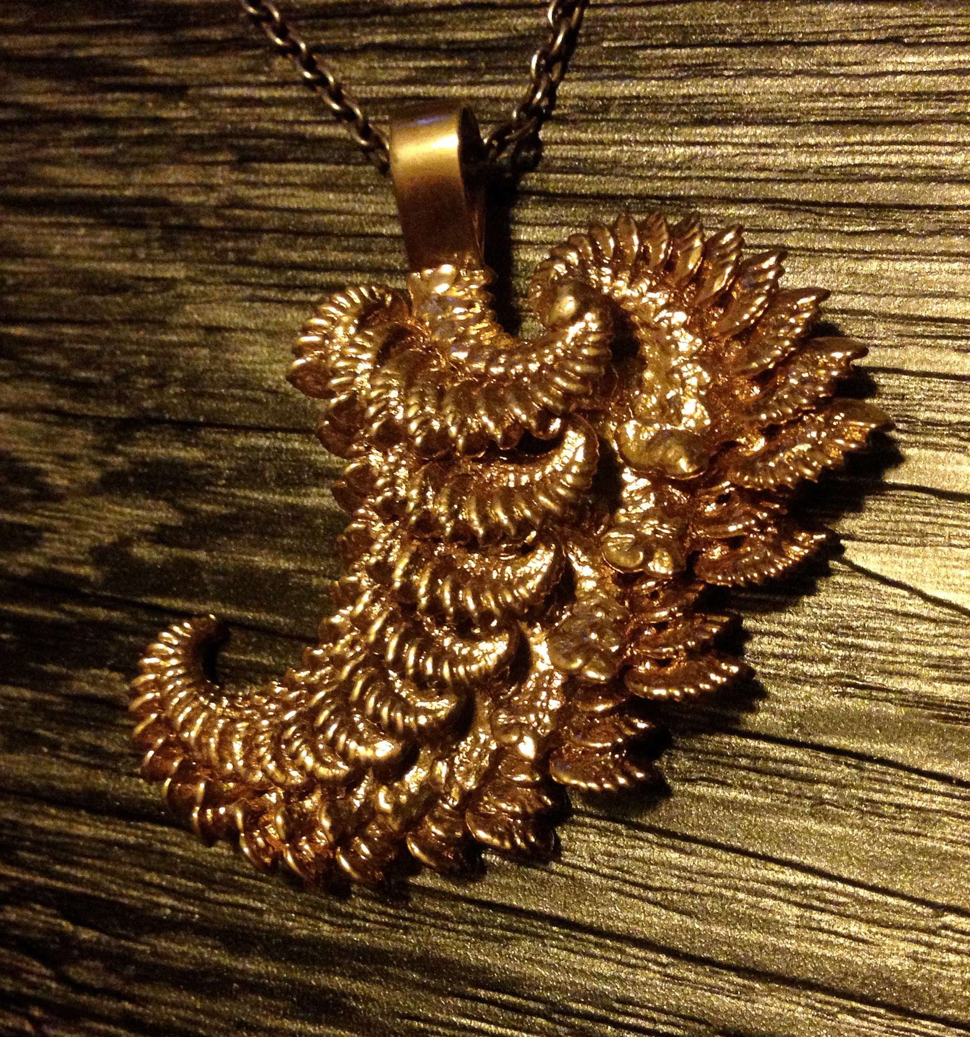 Image of Transcendent Wing pendant 3D printed by Shapetizer designed by unellenu