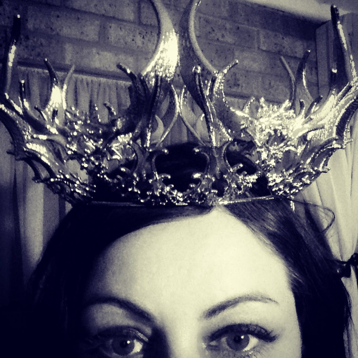 Image of 3D printed crown designed by unellenu modelled by Janelle Wilson