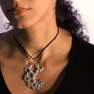 Fractal Lace – Sterling Silver Pendant