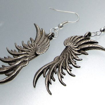 Image of 3D printed earrings 'WIngs' designed by unellenu