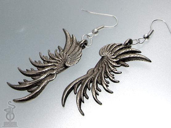 Image of 3D printed earrings 'WIngs' designed by unellenu