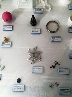 Image of 3D design collection at 3DEA Popup Shop event 2012 including unellenu