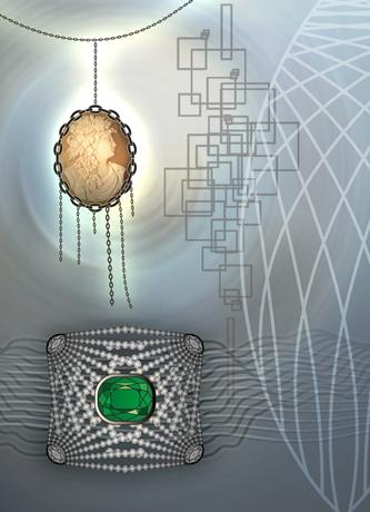 Image of 2D pendant design designed by unellenu