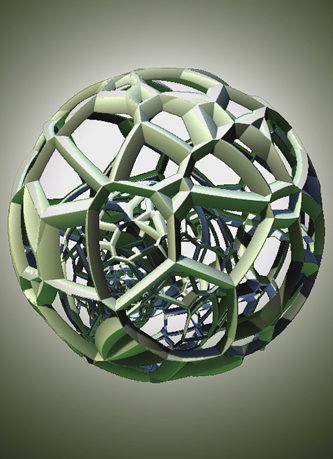 Image of voronoi sphere 3D design by Janelle Dehanne Wilson of unellenu