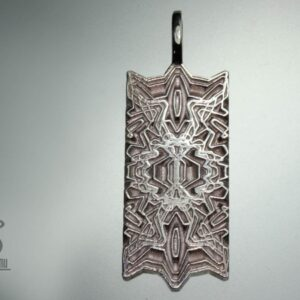 Spaceship Door – Silver Tag Pendant