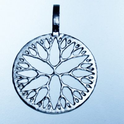 Circle of Droplets – Sterling Silver Pendant