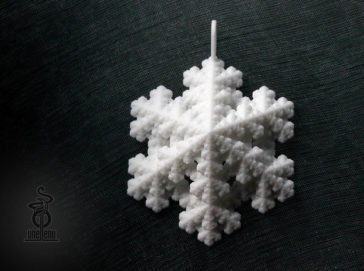 Image of Snowflake Fractal Pendant designed by unellenu