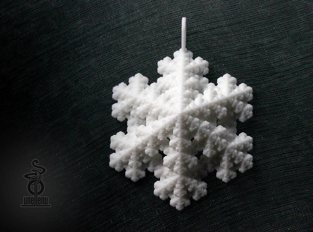 Image of Snowflake Fractal Pendant designed by unellenu