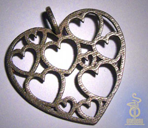 Image of Heart of Hearts Pendant designed by unellenu
